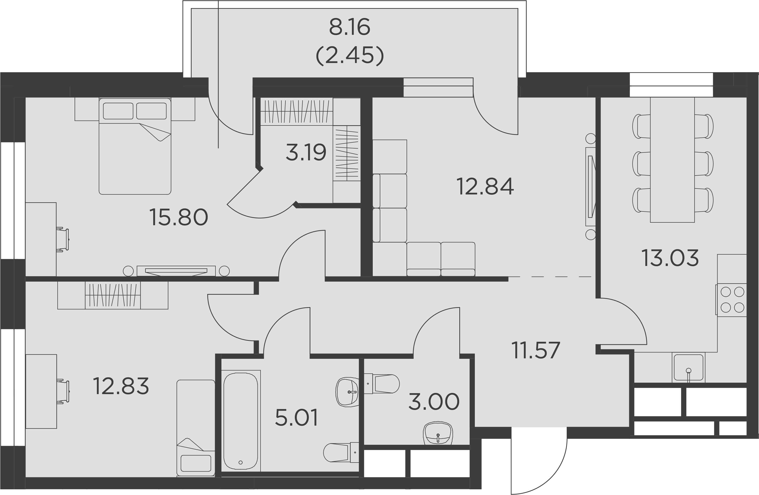 3-к.кв, 79.72 м²