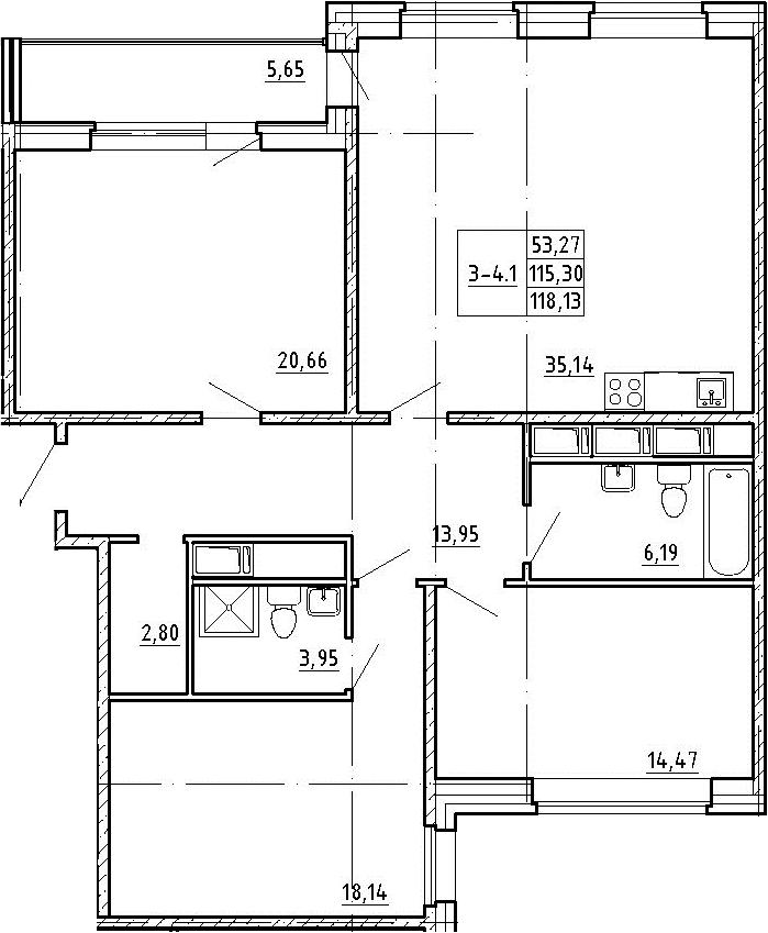 4Е-к.кв, 115.3 м²
