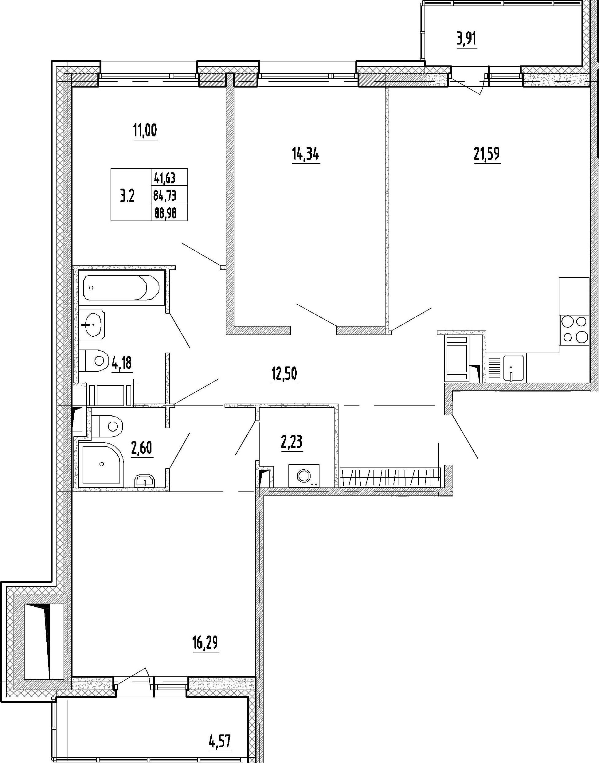 4-к.кв (евро), 93.21 м²