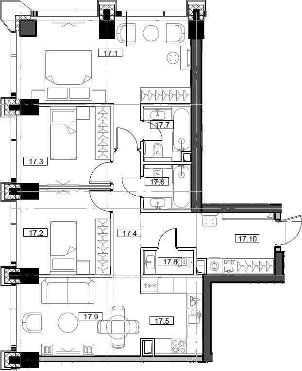 4Е-комнатная, 83.97 м²– 2
