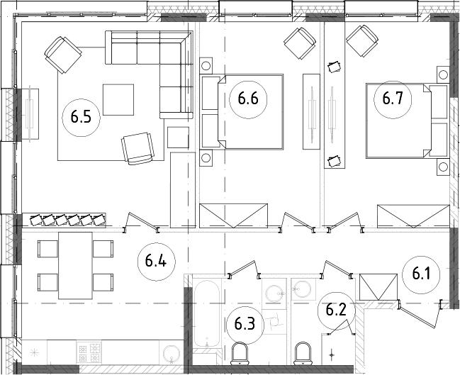 3-к.кв, 76.97 м², 13 этаж