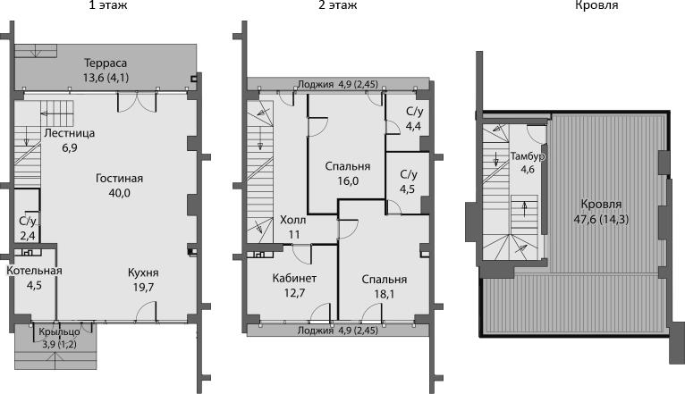 Таунхаус, 169.1 м², 1 этаж