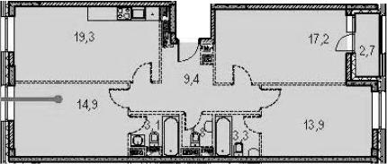 4-к.кв (евро), 95.2 м²