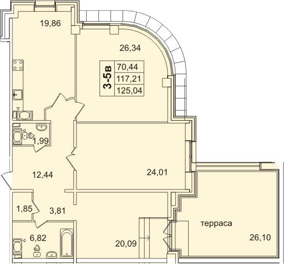 3-к.кв, 143.31 м²