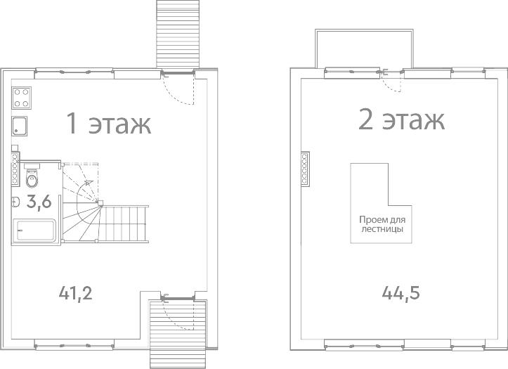 Таунхаус, 90.3 м²– 2