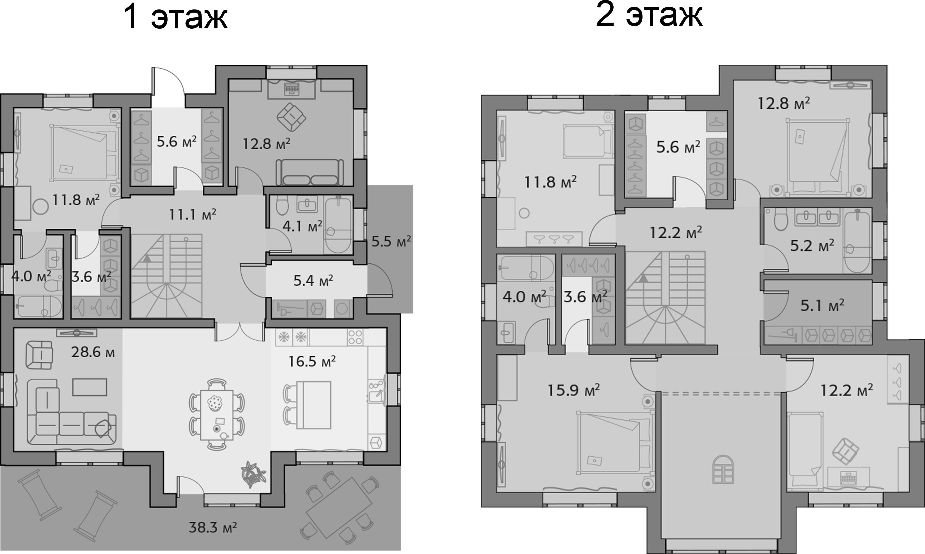 Коттедж, 206 м²– 2