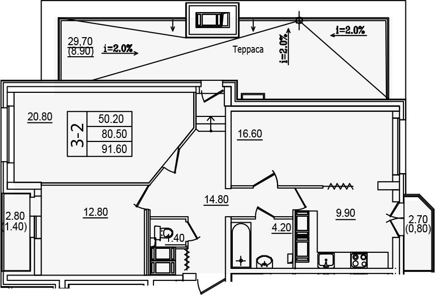 3-к.кв (евро), 115.64 м²