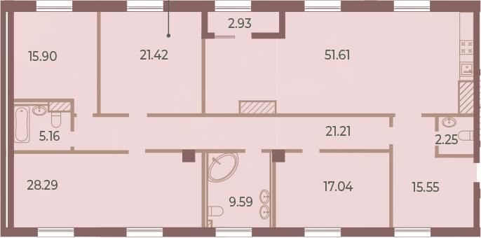 5Е-к.кв, 189.49 м²