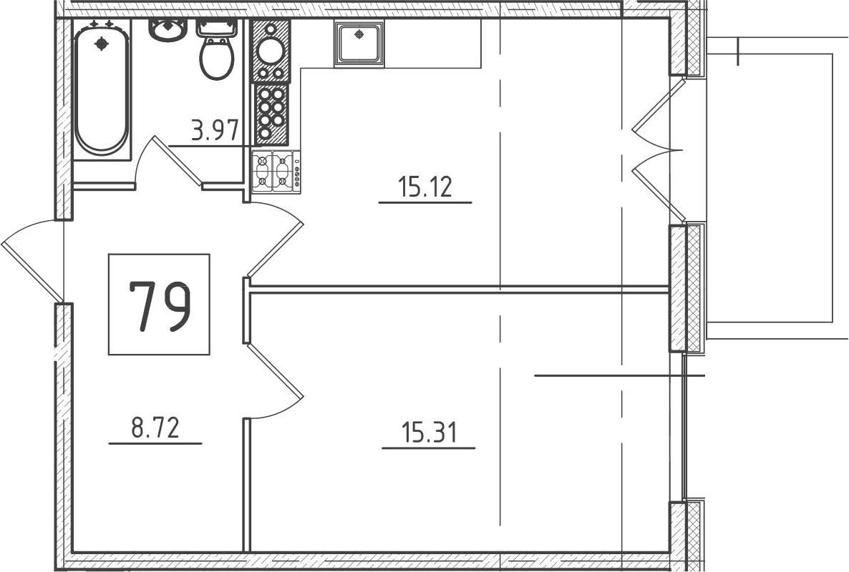 2-к.кв (евро), 47.92 м²
