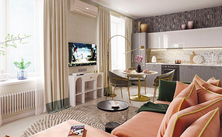 2-комнатная квартира, 61.07 м², 14 этаж – 5