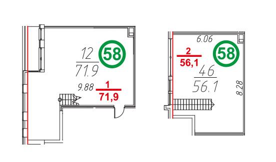 Свободная планировка, 129.3 м²– 2