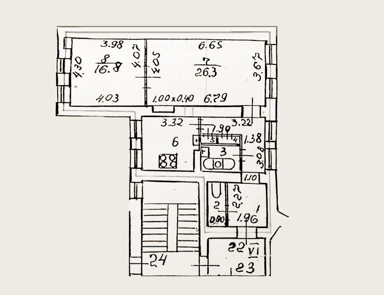 3-к.кв, 72.38 м²