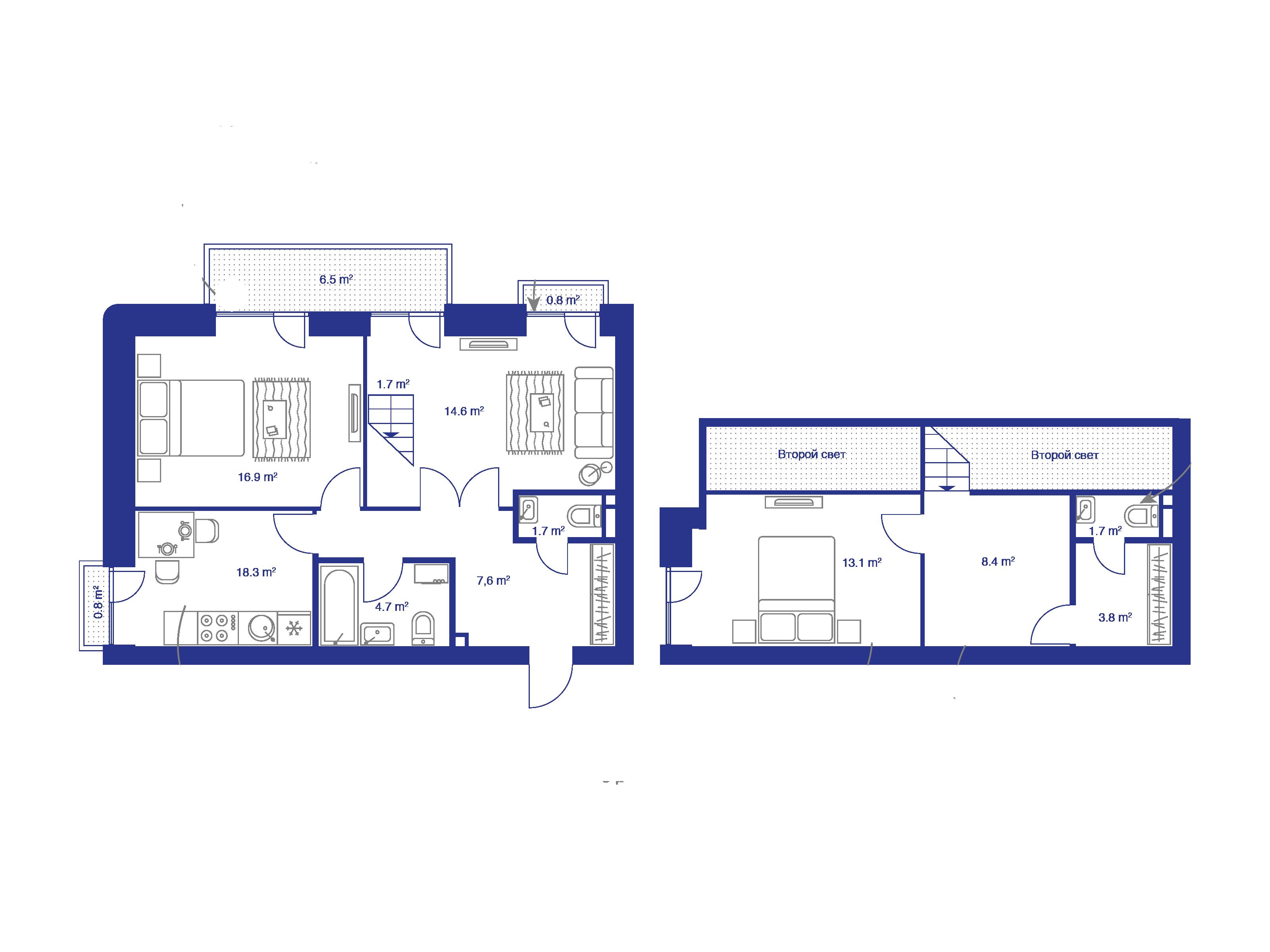 4Е-комнатная, 92.5 м²– 2