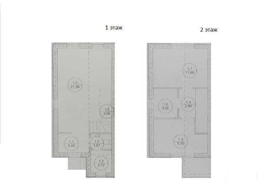 Таунхаус, 61.88 м²– 2