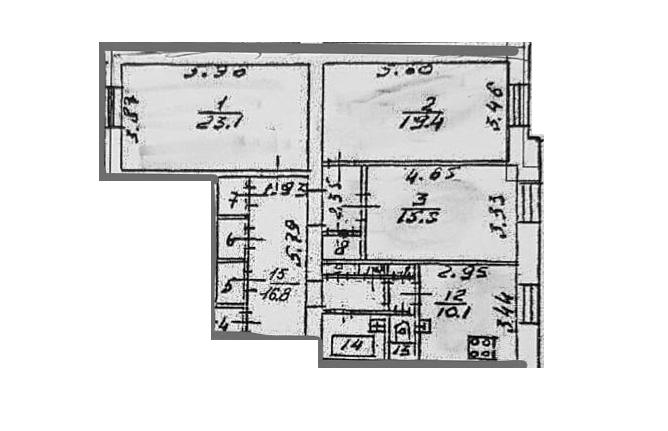 3-к.кв, 92.74 м²