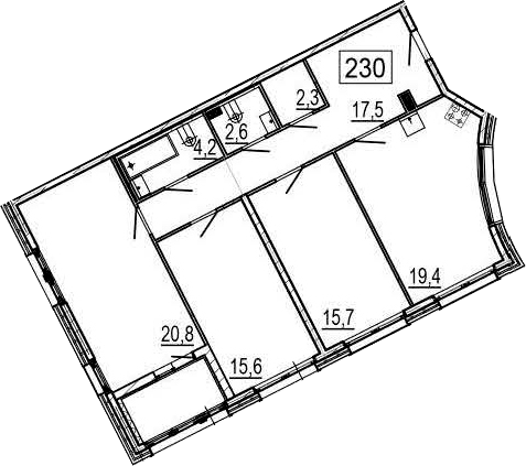 4-к.кв (евро), 102.5 м²