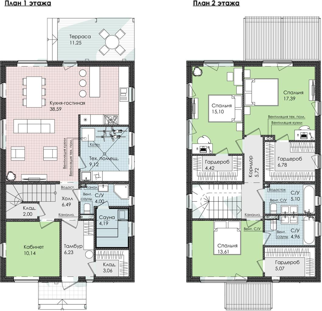 Коттедж, 173.22 м²
