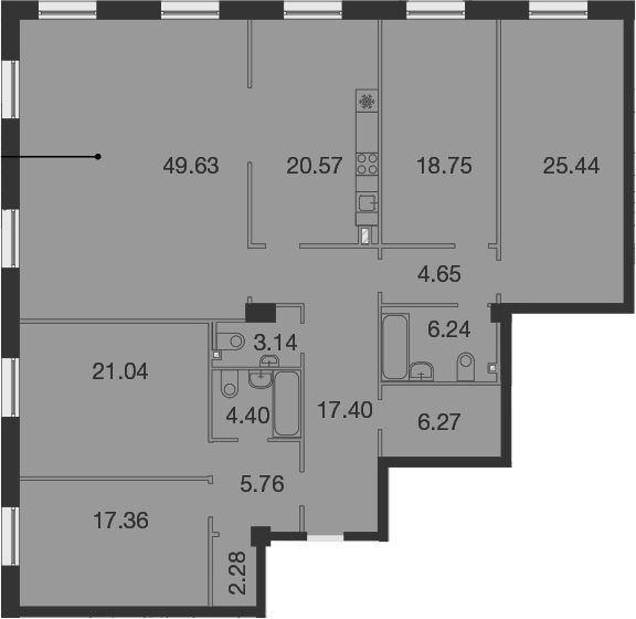 5-к.кв, 202.93 м²