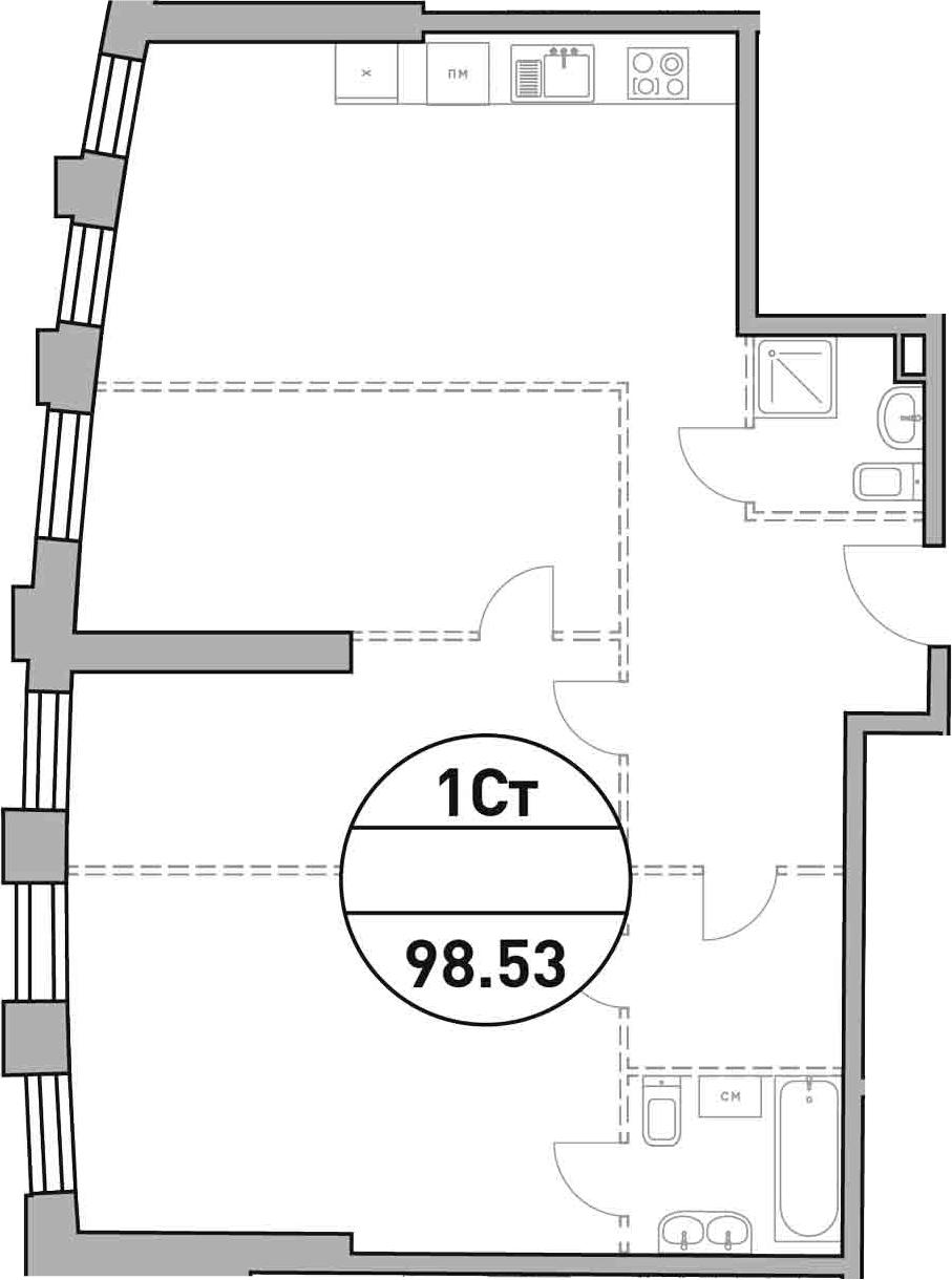 Своб. план., 98.53 м²