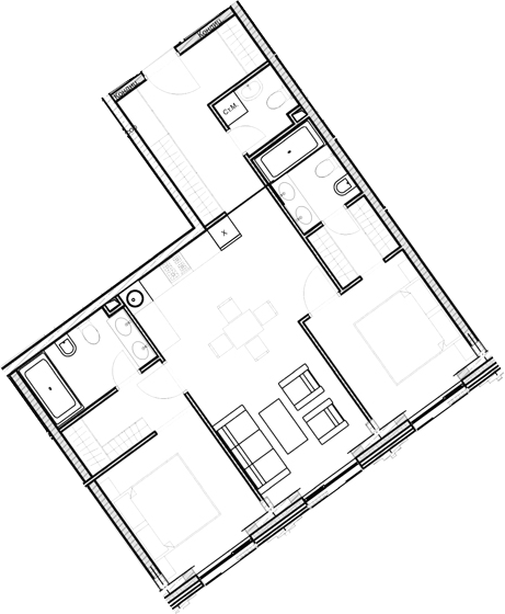 Свободная планировка, 69.2 м²– 2