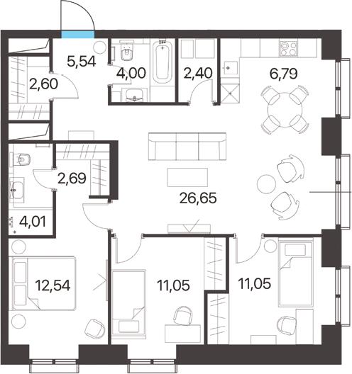 4Е-к.кв, 89.32 м²