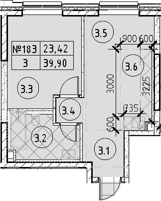 2Е-к.кв, 39.9 м²