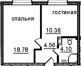 1-к.кв, 37.8 м²
