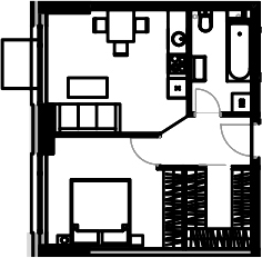 2-к.кв (евро), 43.63 м²
