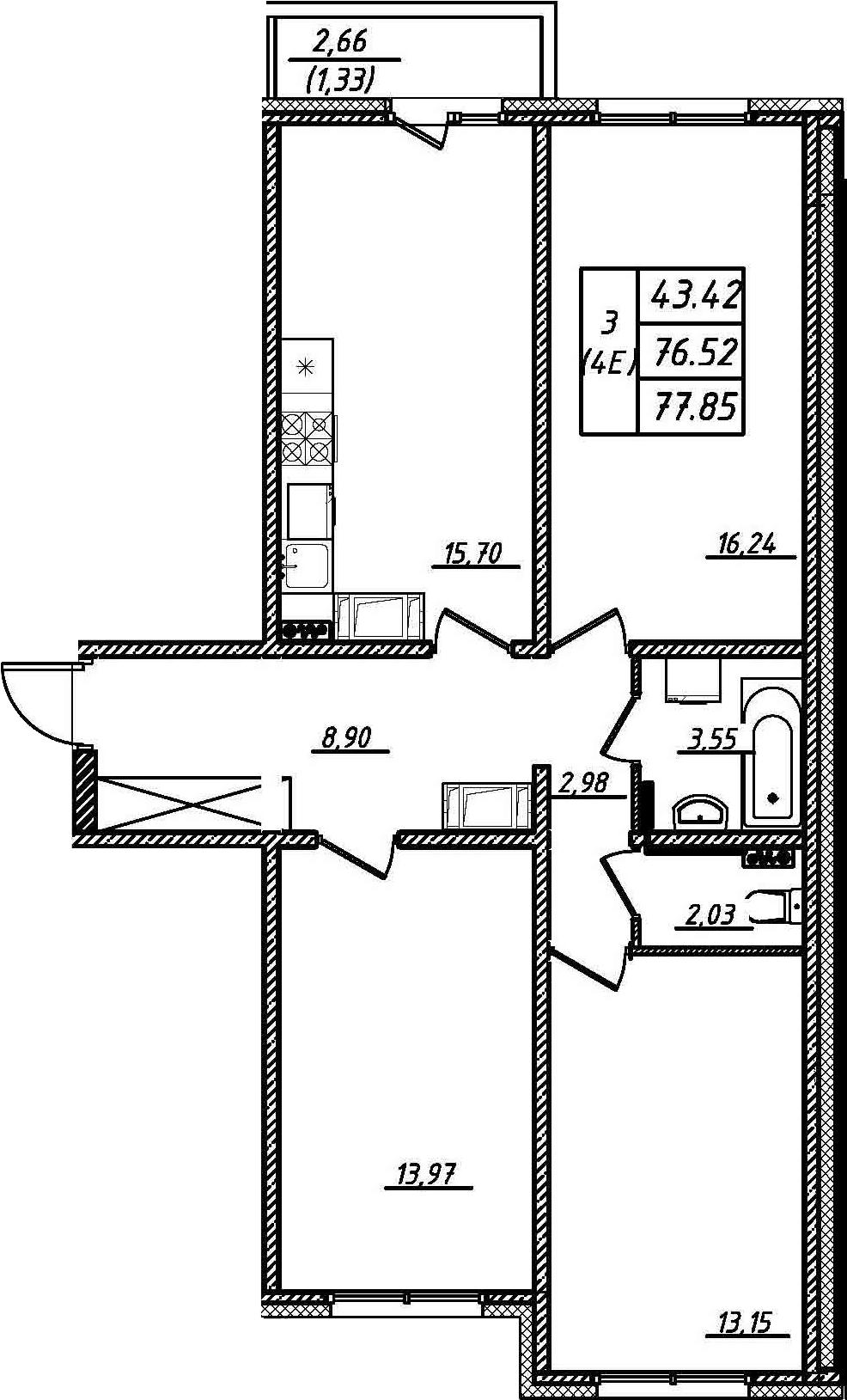 4-к.кв (евро), 79.18 м²