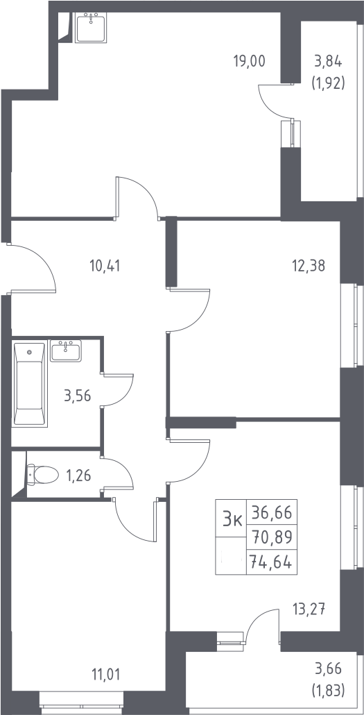 4-к.кв (евро), 78.39 м²