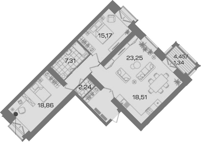 3-к.кв, 98.16 м²