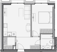 Свободная планировка, 43.3 м²– 2