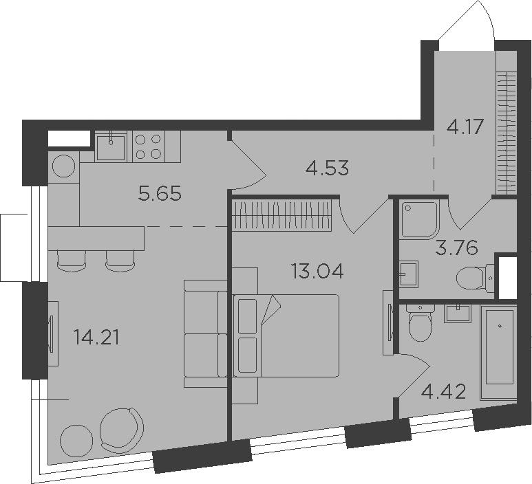 2Е-к.кв, 49.78 м²