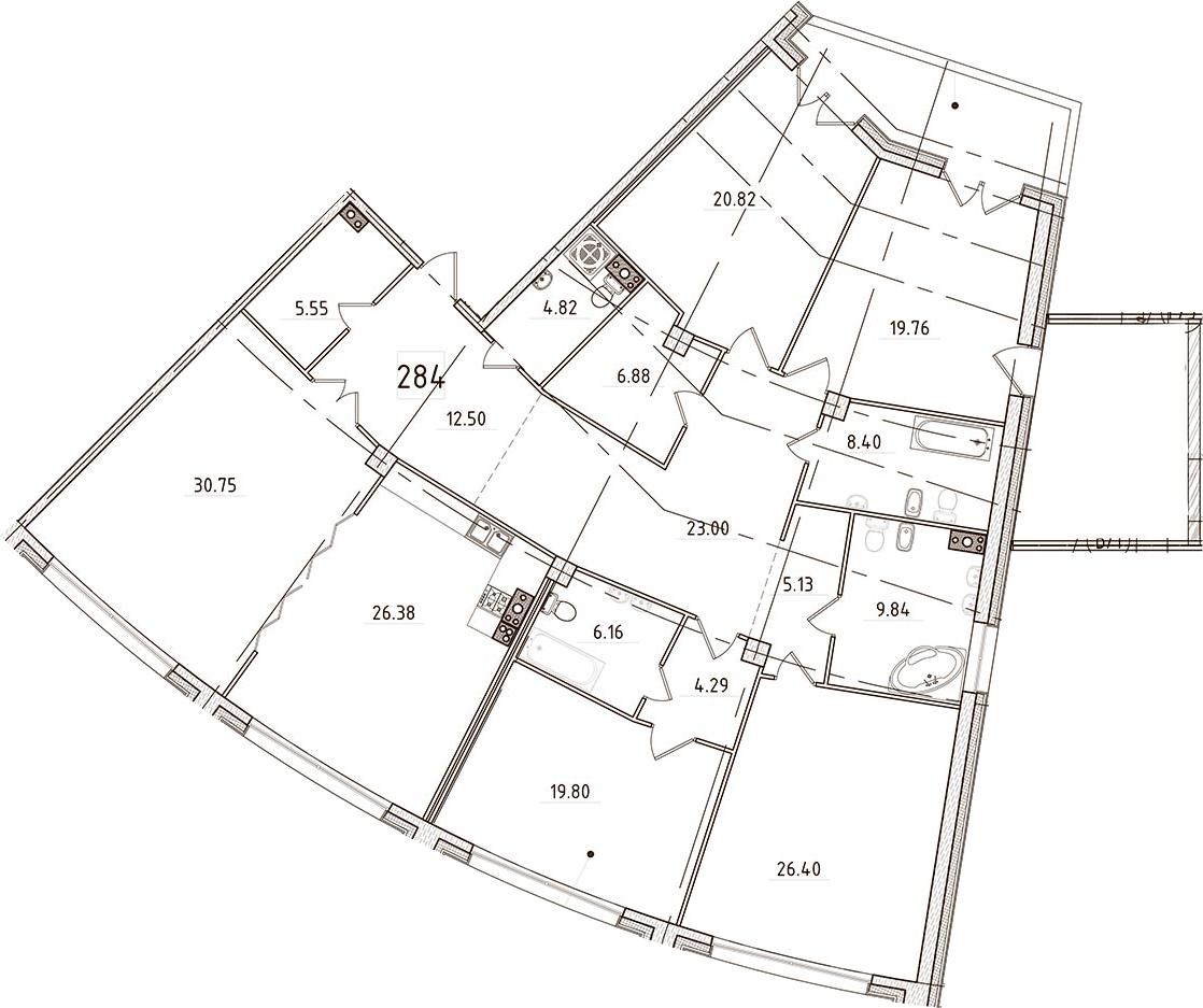 5Е-комнатная, 248.39 м²– 2