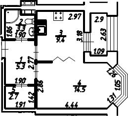 1-к.кв, 36.7 м², 11 этаж