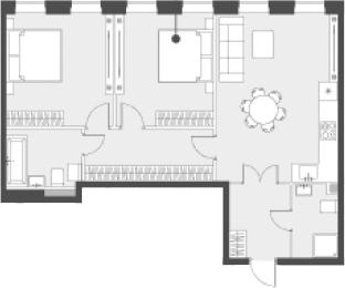 Свободная планировка, 68.6 м²– 2