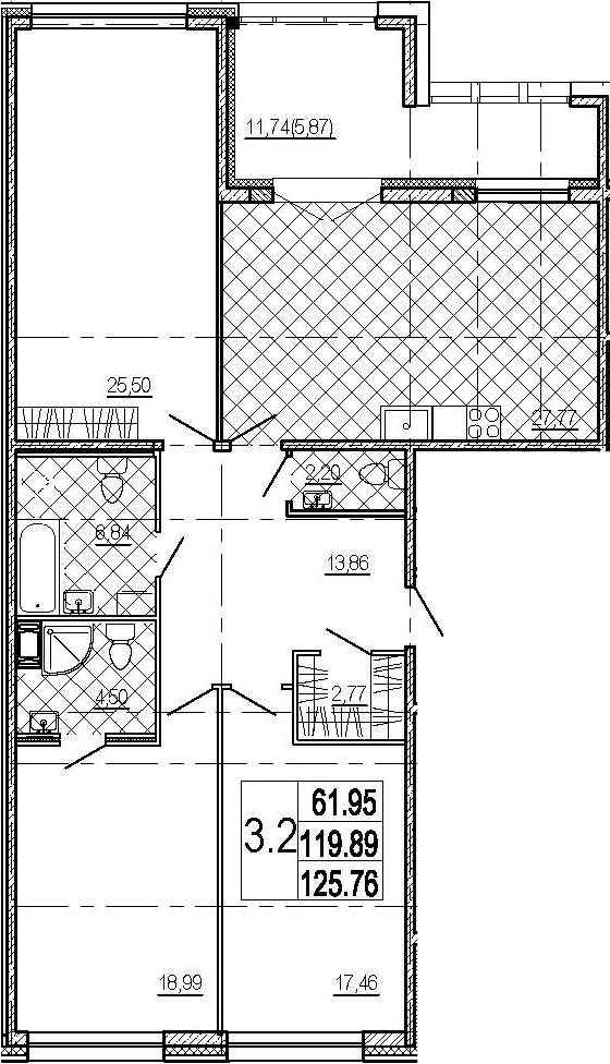 4-к.кв (евро), 131.63 м²