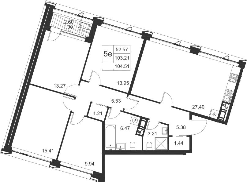5-к.кв (евро), 105.81 м²