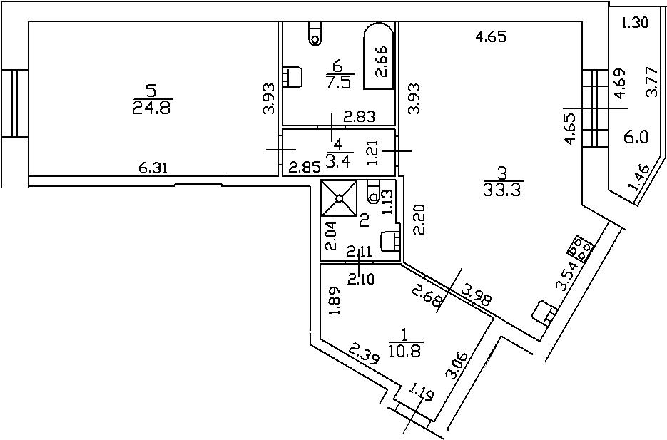 2-к.кв (евро), 90 м²