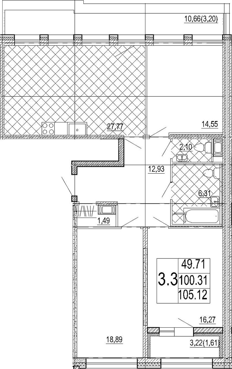 4Е-к.кв, 105.12 м²