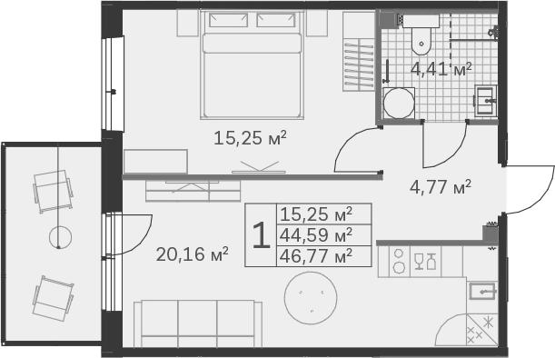 2-к.кв (евро), 51.86 м²