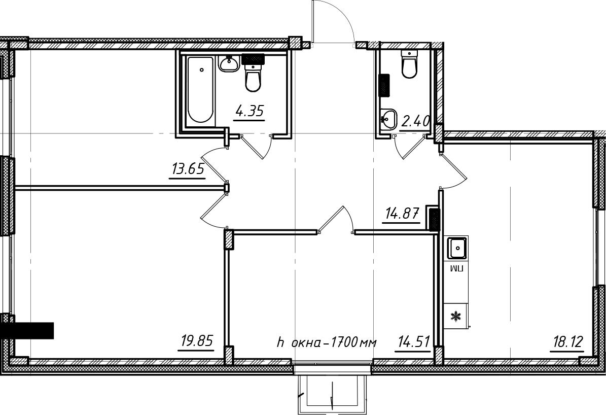 4Е-комнатная, 87.75 м²– 2