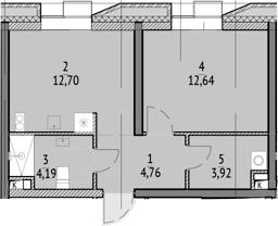 1-к.кв, 38.21 м²