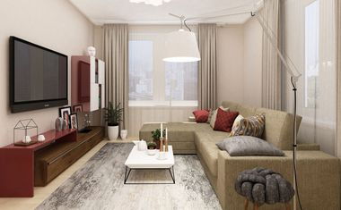 1-комнатная, 38.97 м²– 1