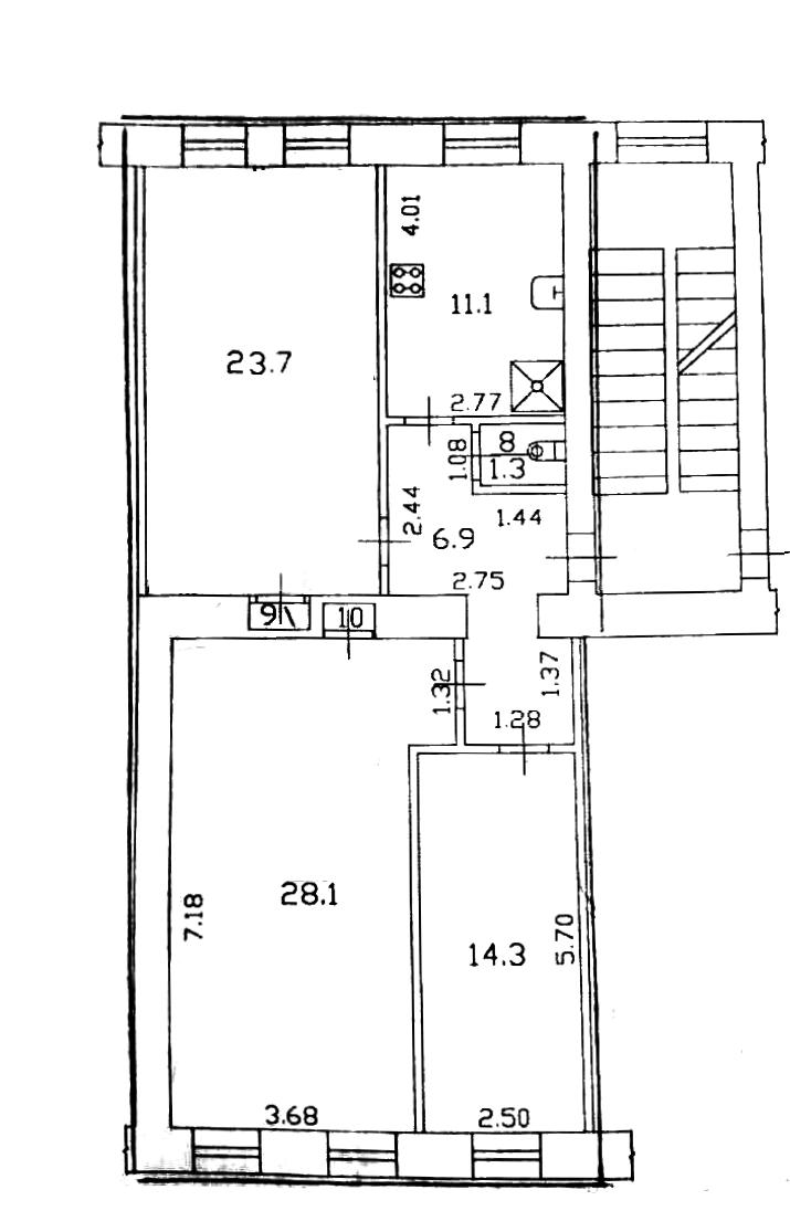 3-к.кв, 85.4 м²