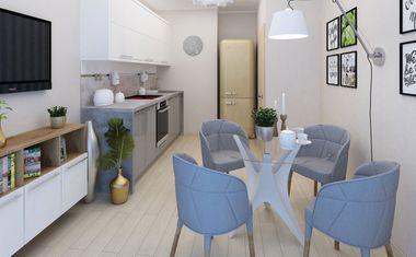 1-комнатная, 38.97 м²– 4