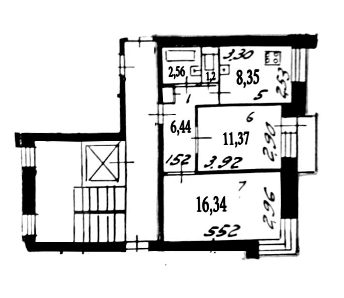 2-к.кв, 46.26 м²