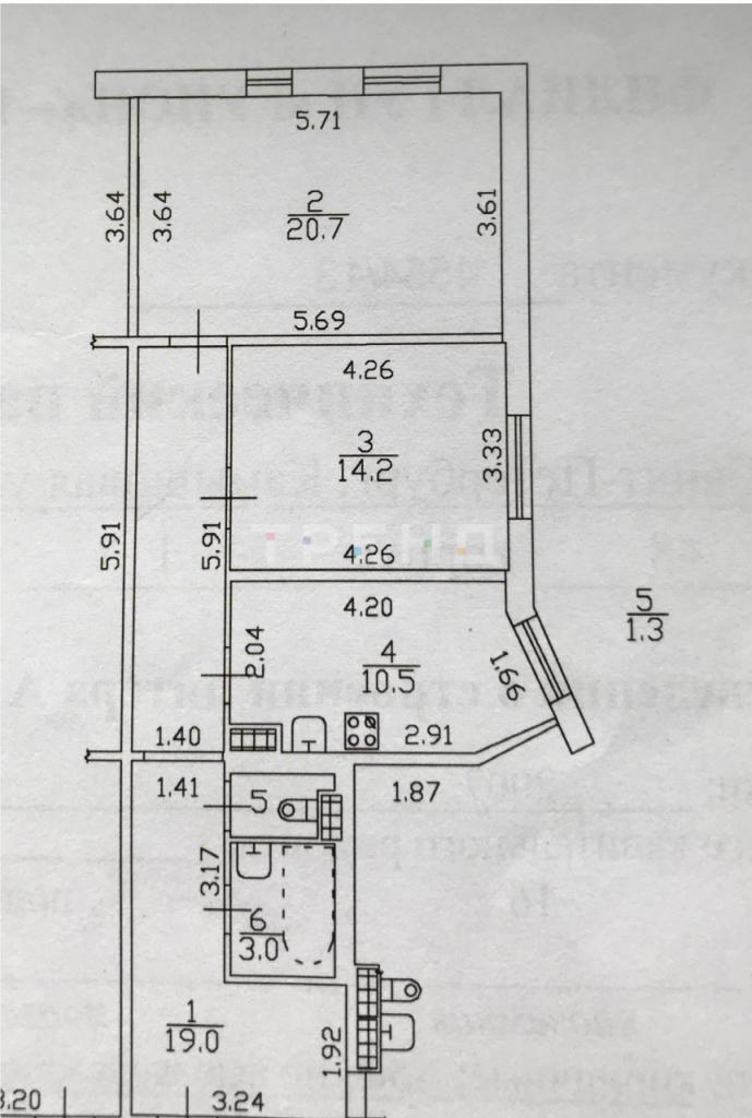 2-к.кв, 68.81 м²