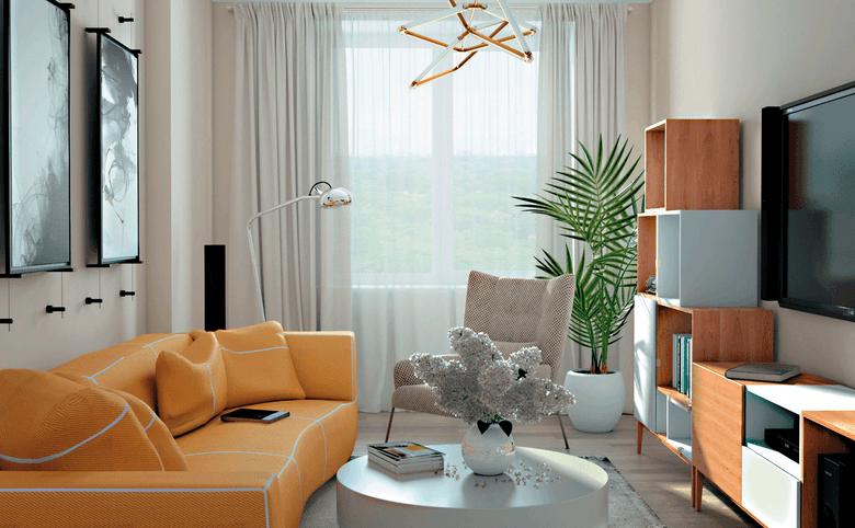 2Е-комнатная квартира, 66.13 м², 16 этаж – 3