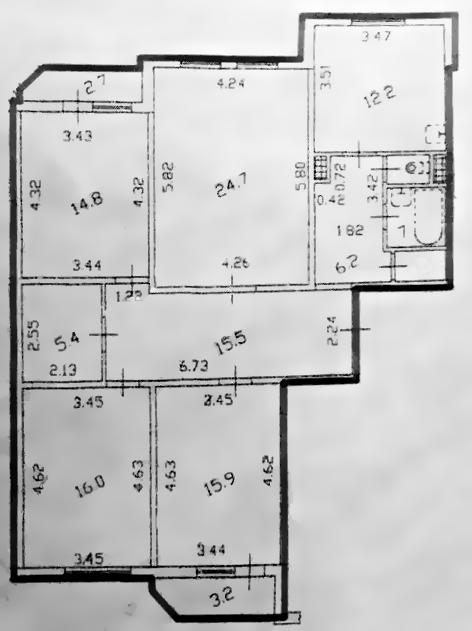 4-к.кв, 112.79 м²